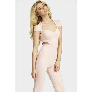 Pants - Nude Side Cut Jumpsuit Small